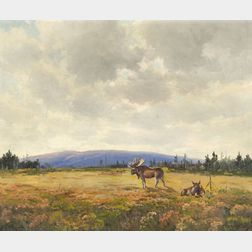 Charles Gordon Harris (American, b. 1891)    Moose