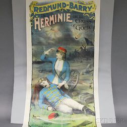 Redmund-Barry Herminie or the Cross of Gold   Poster