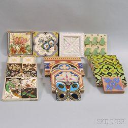 Nineteen Art Pottery Tiles