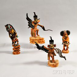 Four Contemporary Kachina Dolls