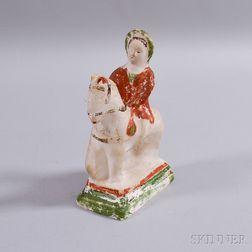 Chalkware Figure of Queen Victoria on Horseback