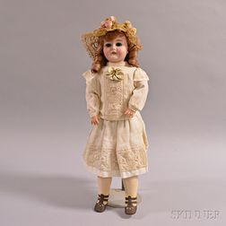 "Armand Marseille ""Queen Louise"" Bisque Head Doll"