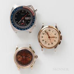 Friedlander's, Cimier, and Seiko Chronograph Wristwatches
