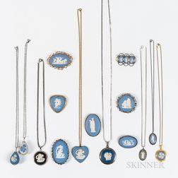 Fifteen Wedgwood Jewelry Items