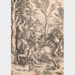 Albrecht Dürer (German, 1471-1528)      The Knight on Horseback and the Lansquenet
