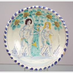 Bristol Delftware Adam and Eve Charger