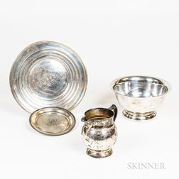 Four Pieces of American Sterling Silver Tableware