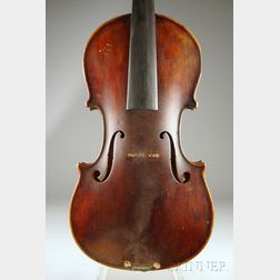 English Violin, c. 1850, Probably George Craske