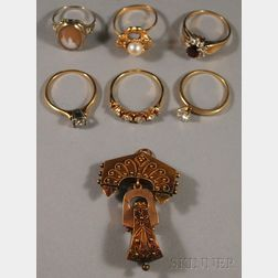 Group of 14kt Gold Jewelry