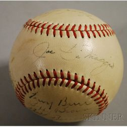1948 New York Yankees Autographed Baseball