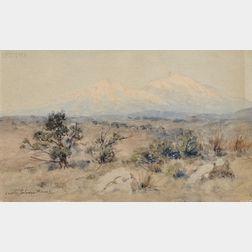 Charles Partridge Adams (American, 1858-1942)      The Spanish Peaks, Colorado
