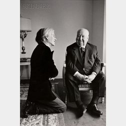 Jill Krementz (American, b. 1940)      Andy Warhol and Alfred Hitchcock.