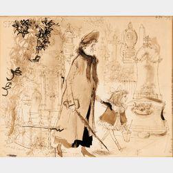 Ronald Searle (British, 1920-2011)      l'Après-midis of Phillipine