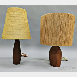 Two Danish Modern Table Lamps