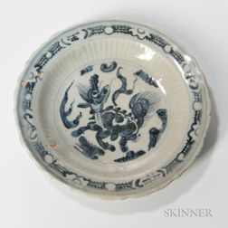 Swatow-style Blue and White Dish