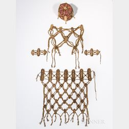 Ritual Bone Apron, Vest, Armlets, and Cap