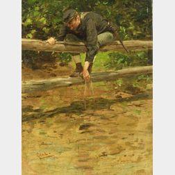 Gilbert (William) Gaul (American, 1855-1919)  A Break from Battle