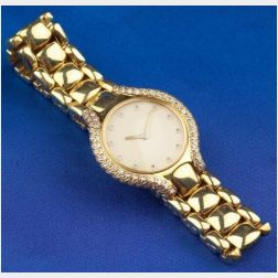 18kt Gold and Diamond Wristwatch, Ebel