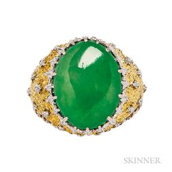 18kt Gold and Jade Ring, Buccellati