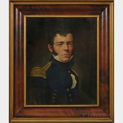 American School, 19th Century      Portrait of a Young Military Officer.