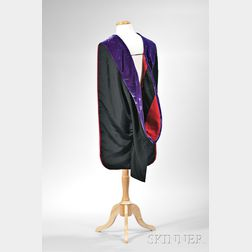 Kennedy, John Fitzgerald (1917-1963) Academic Hood Worn During Harvard Commencement, 14 June 1956.