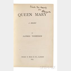Tennyson, Alfred, Lord (1809-1892) Queen Mary,   Author's Presentation Copy.