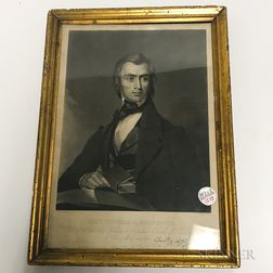 Framed Engraving of Rev. Thomas Stockton