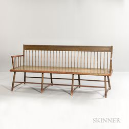 Green Paint-decorated Bamboo-turned Windsor Settee