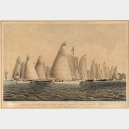 Regatta of the New York Yacht Club. June 1st 1845   Lithograph