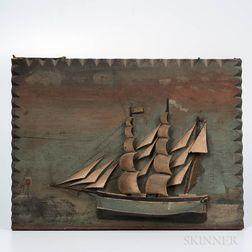 Sailing Ship Painted Diorama Plaque