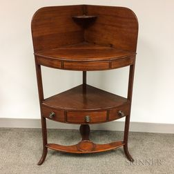 Federal Inlaid Mahogany One-drawer Chamberstand