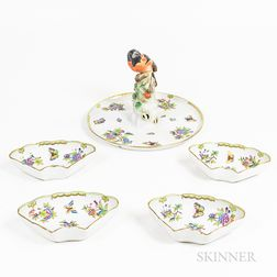 "Herend ""Victoria"" Pattern Porcelain Serving Tray"
