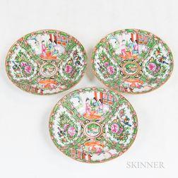 Three Rose Medallion Plates