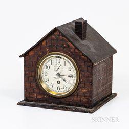 House-shaped Tramp Art Clock Case