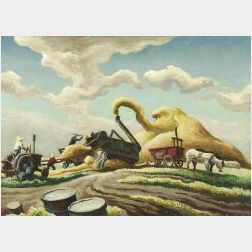 Thomas Hart Benton (American, 1889-1975)  Threshing