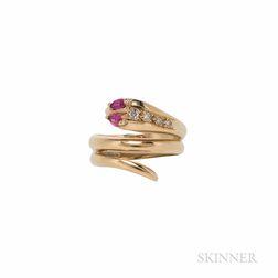 18kt Gold Snake Ring