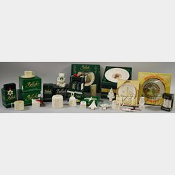 Approximately Thirty-four Assorted Belleek Commemorative and Collectors' Porcelain   Items