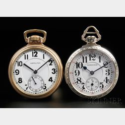 Two 16 Size Hamilton Open Face Watches