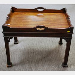 Chinese Chippendale-style Mahogany Butler's Tray Table