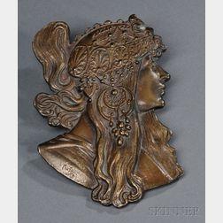 Art Nouveau-style Bronze Belt Buckle
