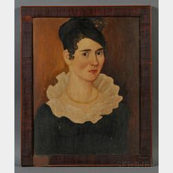 Thomas Ware (American, 1803-1836)      Portrait of Vienna Goodnow, Aged 24 Years.