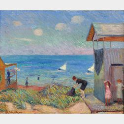William Glackens (American, 1870-1938)      A Cape Cod Shore ,  1908
