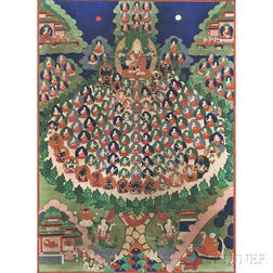 Thangka with the Refuge Tree