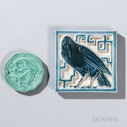 Two Rookwood Art Pottery Tiles