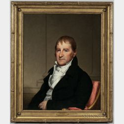 Gilbert Stuart (Massachusetts/Rhode Island, 1755-1828)      Portrait of Mr. Moses Brown of Beverly, Massachusetts