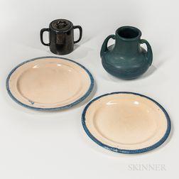 Four J.S. Taft and Hampshire Art Pottery Items