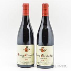 Denis Mortet Gevrey Chambertin 2007, 2 bottles