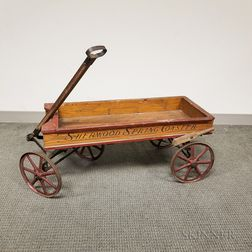 "Grain-painted Wood and Iron ""Sherwood Spring Coaster"" Wagon"