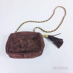 Chanel Brown Suede Handbag