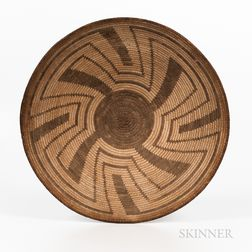 Pima Coiled Basketry Tray